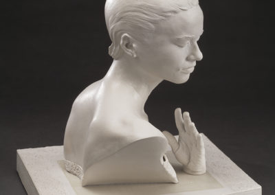 White Mood (2004) - 19 1/2(h) x 16(w) x 17 1/2(d) - airbrushed and glazed earthenware