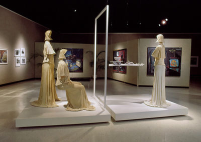 Faith (1985) - 108(h) x 72(w) x 156(d) - colored porcelain, gypsum, fabric, wood