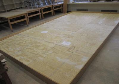 Platform with frame sanded