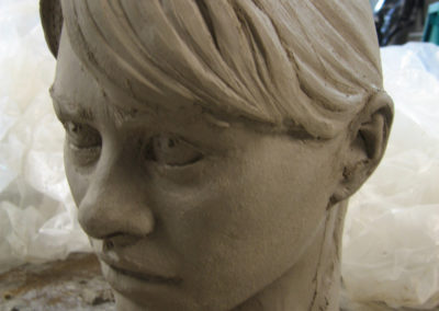 Clay model of figures head