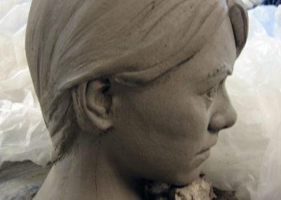 Clay model of figures head